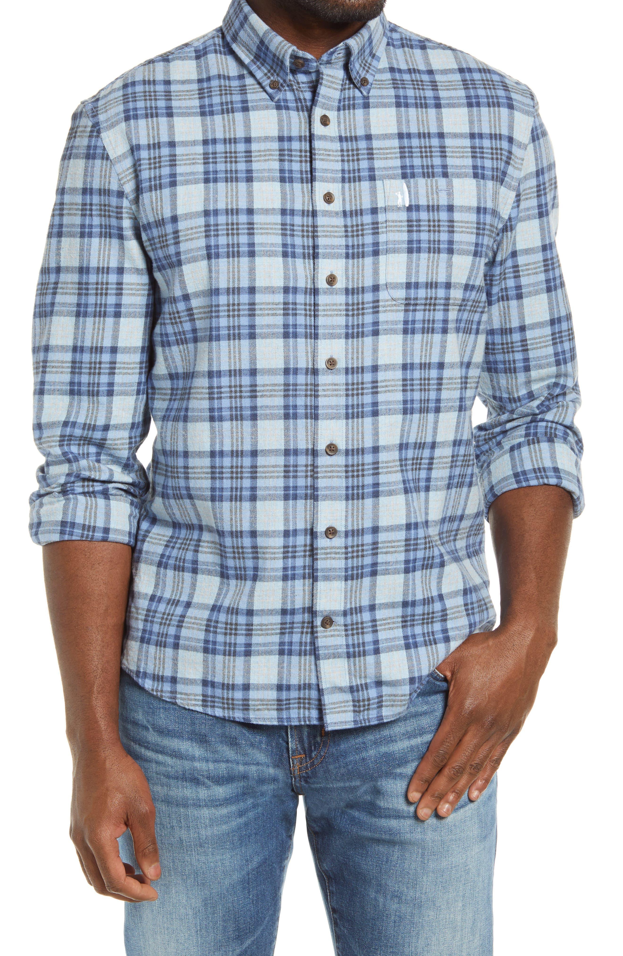 Hangin' Out Keller Plaid Flannel Button-Down Shirt