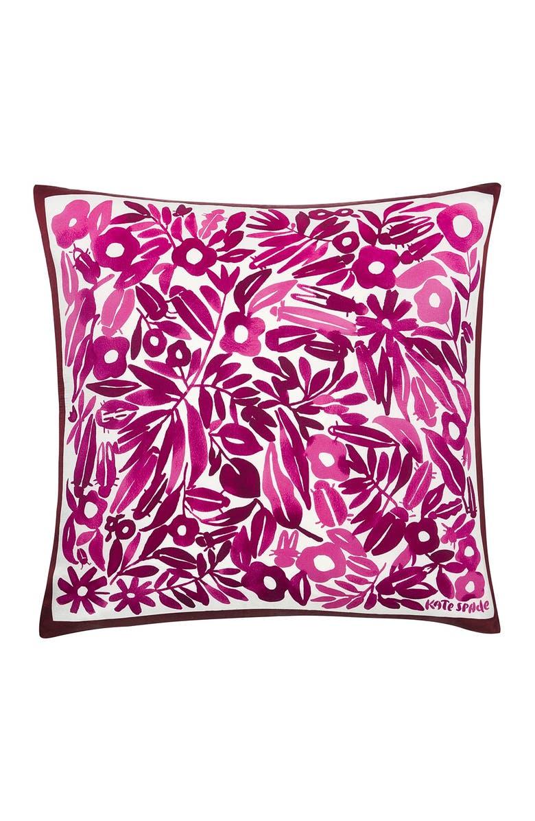 "KATE SPADE NEW YORK dash dot decorative pillow 20""x20"" - rhubarb, Main, color, RHUBARB"