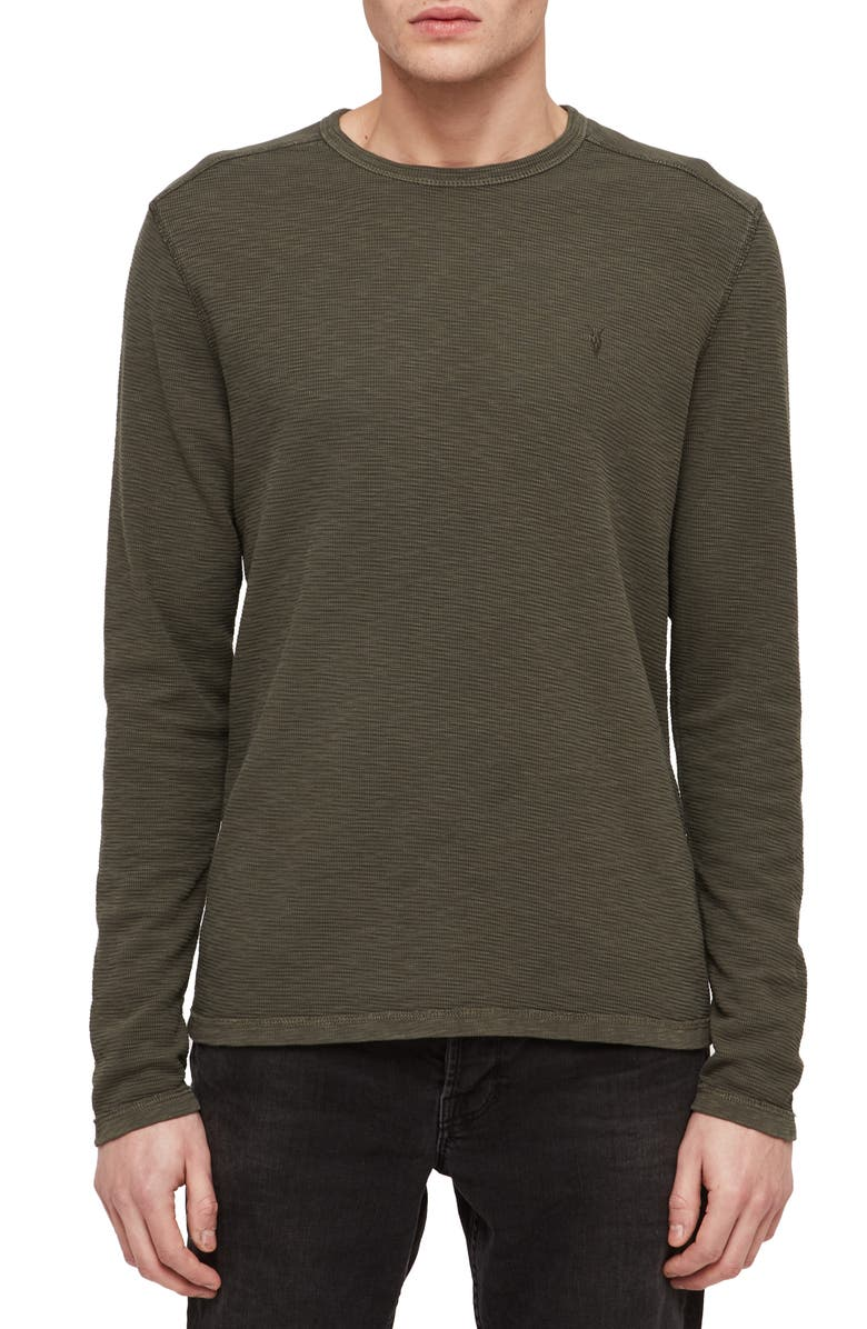 ALLSAINTS Clash Slim Fit Crewneck Thermal T Shirt