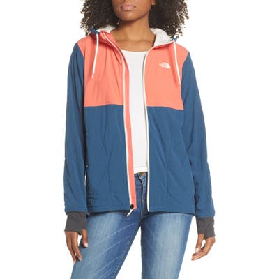 The North Face Mountain Insulated Zip Hooded Jacket, Red