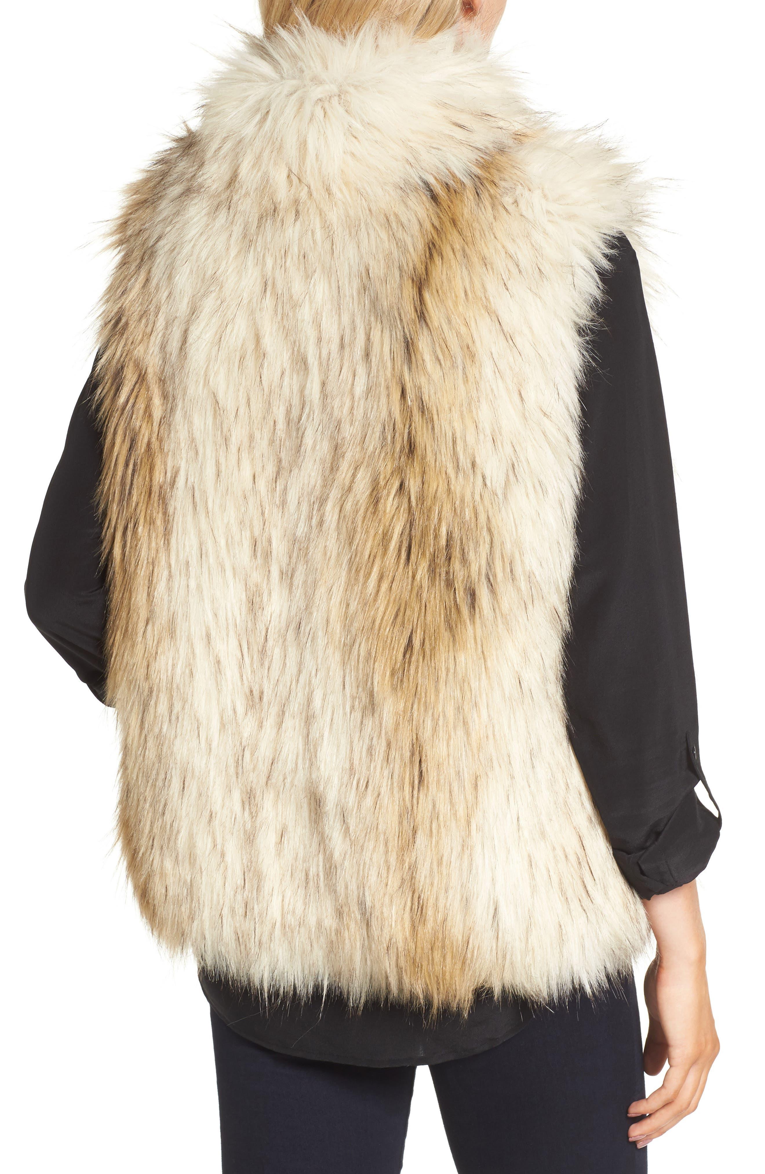 ,                             Elvan Open Front Faux Fur Vest,                             Alternate thumbnail 2, color,                             152