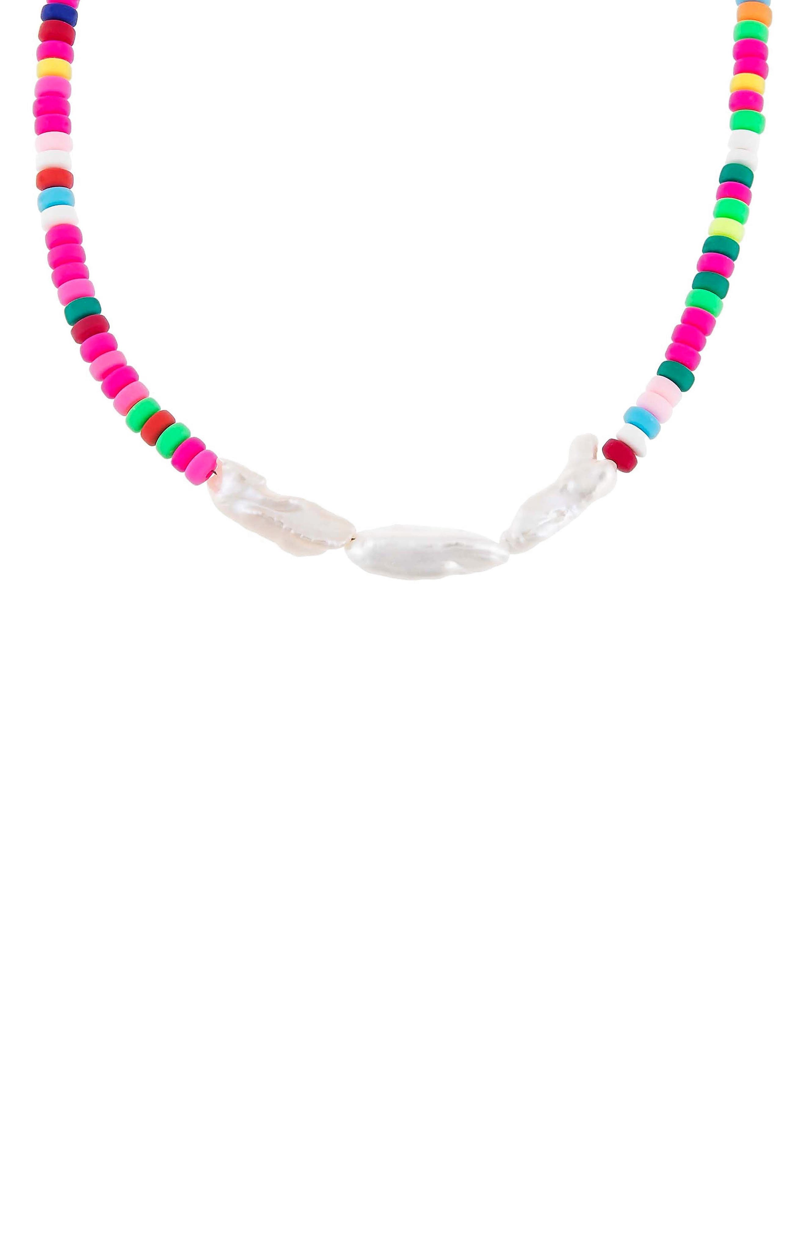 Women's Adina's Jewels Cultured Pearl Beaded Necklace