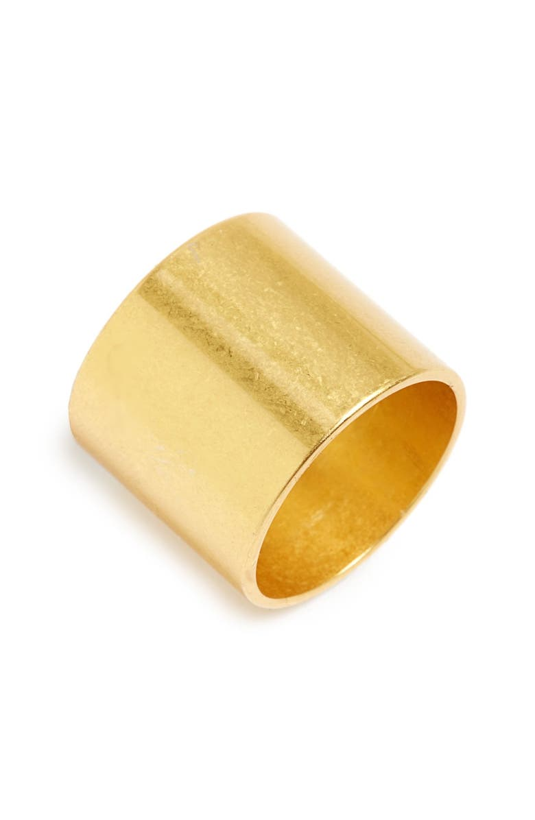 MADEWELL Band Ring, Main, color, LIGHT WORN GOLD
