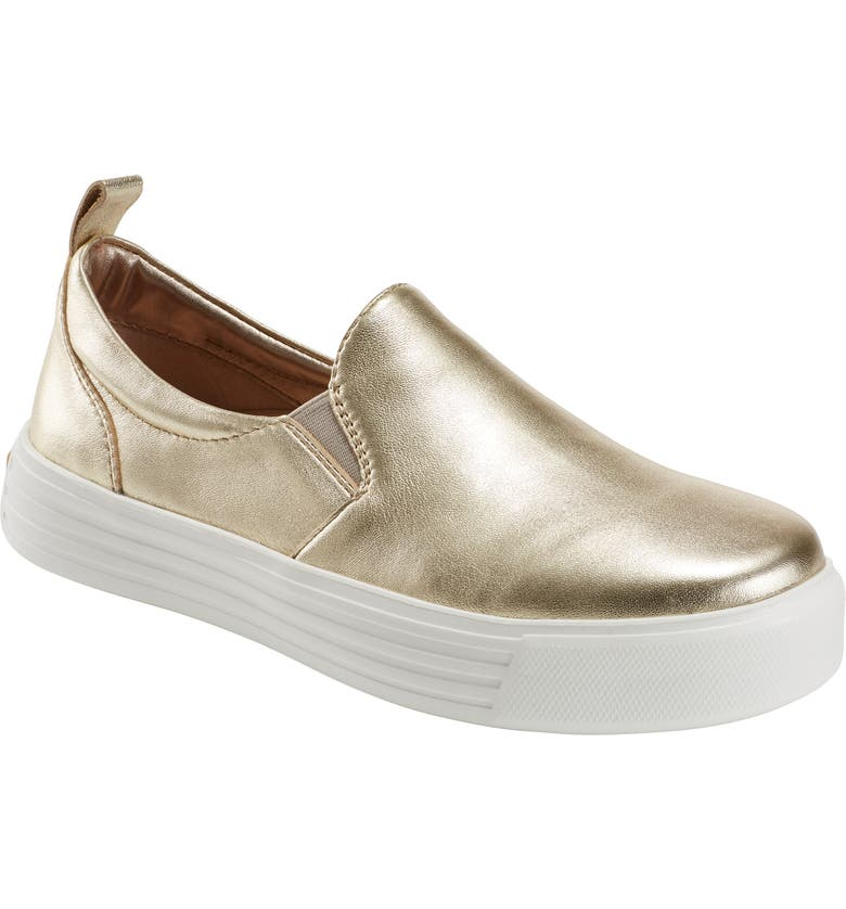 EARTH<SUP>®</SUP> Clove Sneaker, Main, color, LIGHT GOLD METALLIC LEATHER