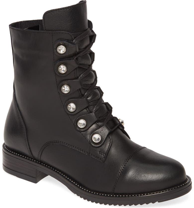SHERIDAN MIA Jewels Combat Boot, Main, color, 001