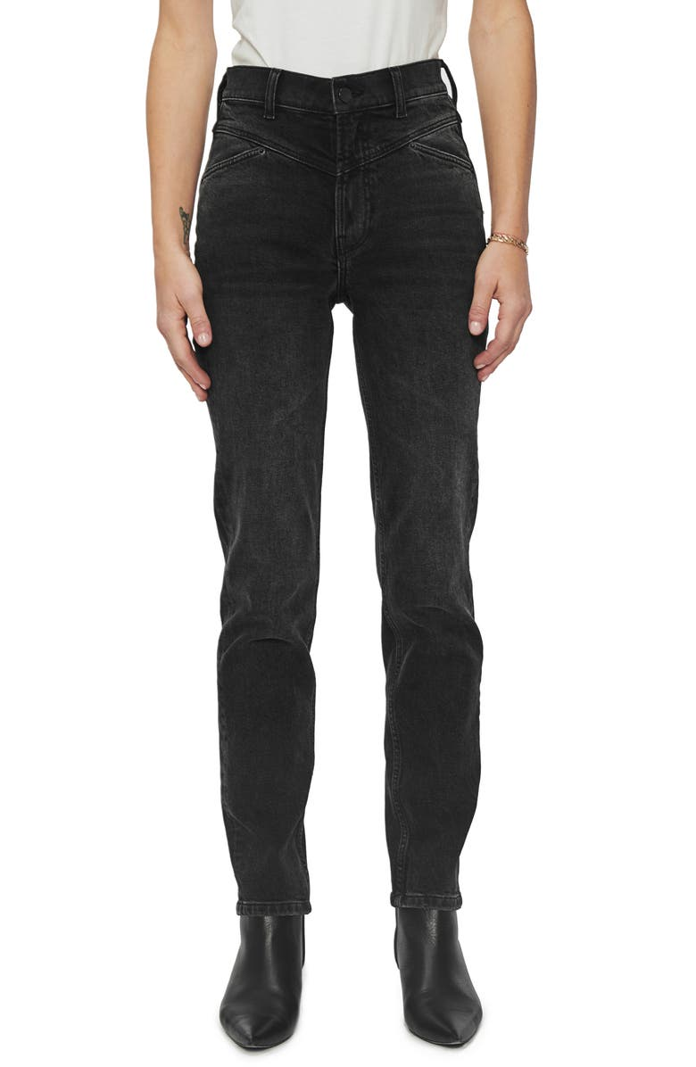 ANINE BING McGraw High Waist Bootcut Jeans, Main, color, BLACK GRANITE