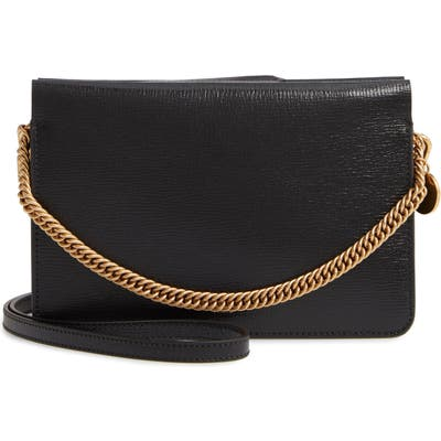 Givenchy Cross 3 Leather Crossbody Bag - Black