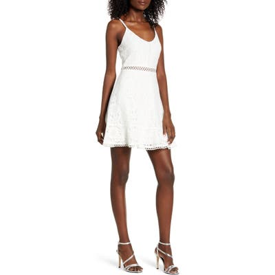 Speechless Lace Skater Dress, Ivory