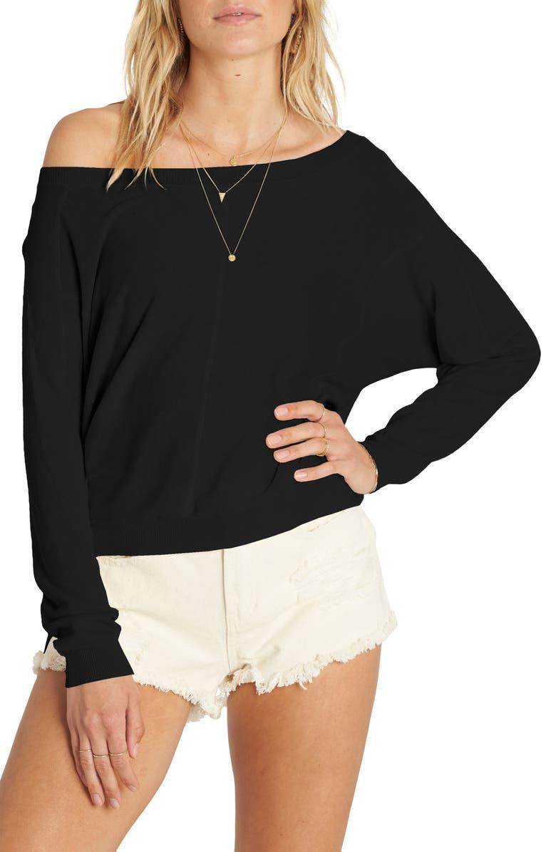 BILLABONG No Regrets Pullover, Main, color, BLACK