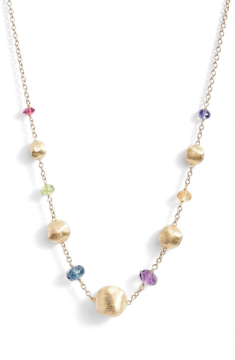 MARCO BICEGO Africa Semiprecious Stone Necklace, Main, color, YELLOW GOLD