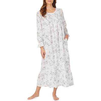 Eileen West Ballet Long Sleeve Nightgown, White