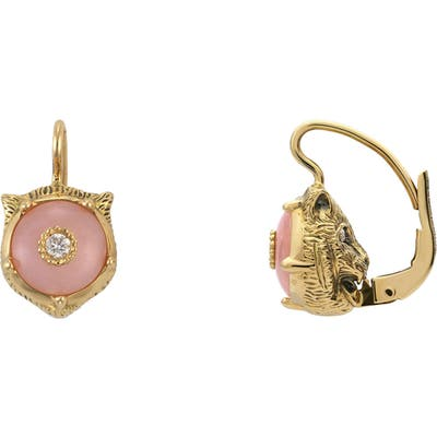 Gucci Le Marche Des Merveilles Feline Head Earrings