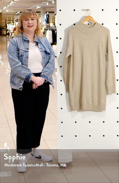 Easy Crewneck Long Sleeve Sweater Dress, sales video thumbnail