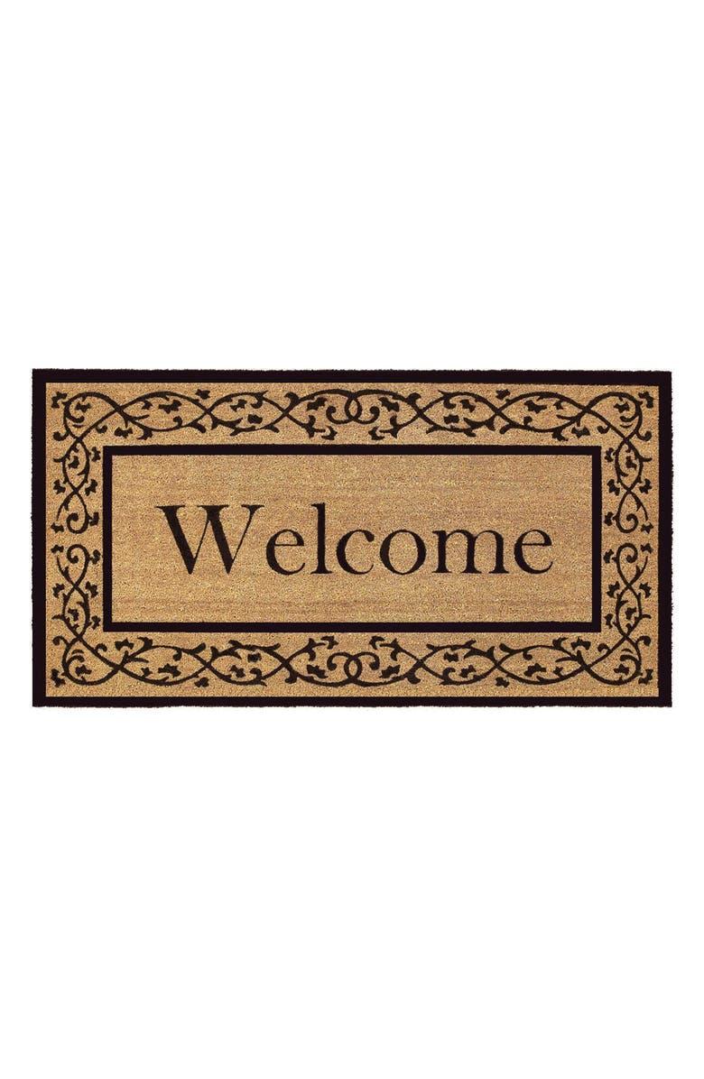 CALLOWAYMILLS Abbington Doormat, Main, color, NATURAL/ BLACK