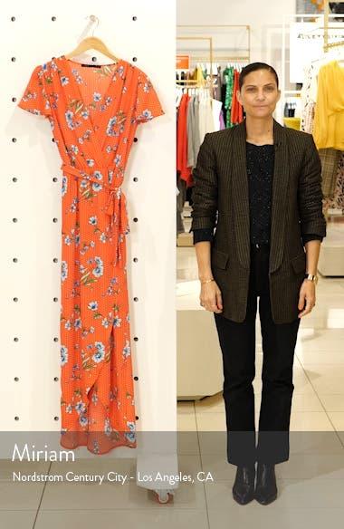 High/Low Faux Wrap Maxi Dress, sales video thumbnail