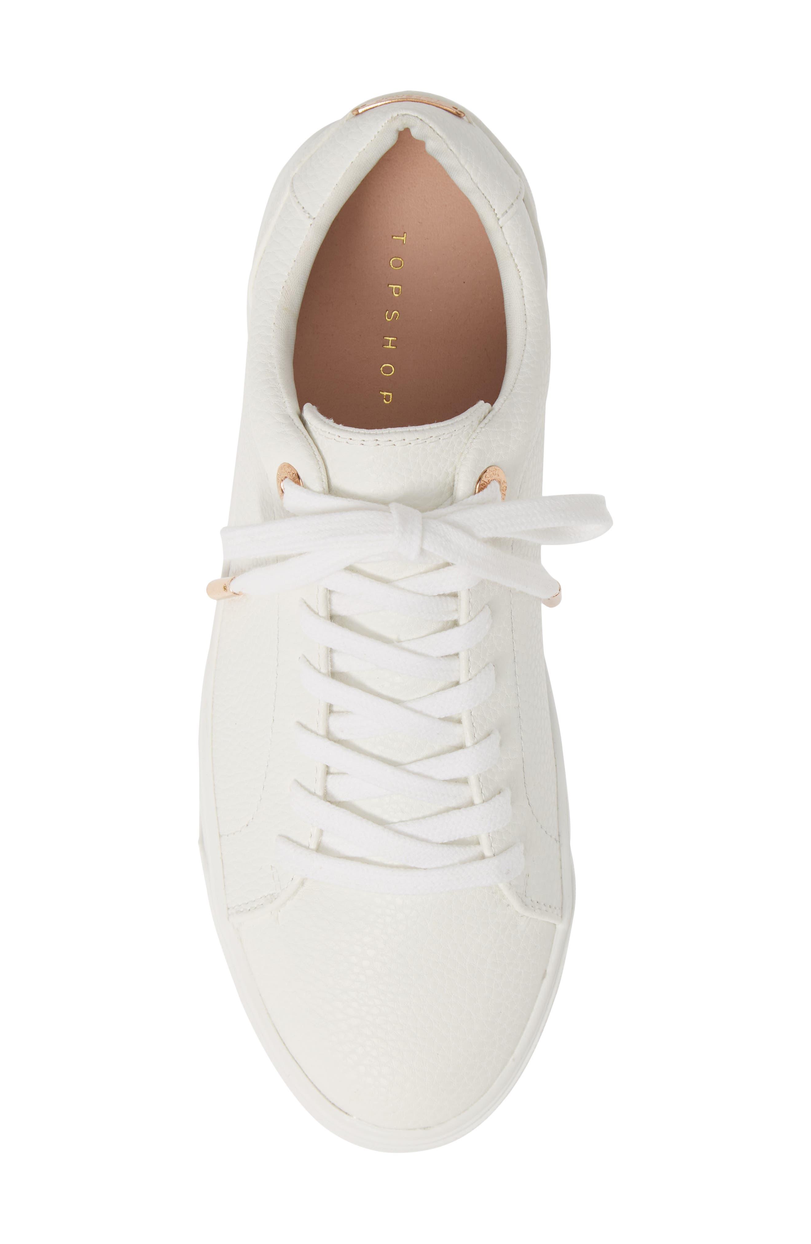 ,                             Curly Low Top Sneaker,                             Alternate thumbnail 5, color,                             WHITE