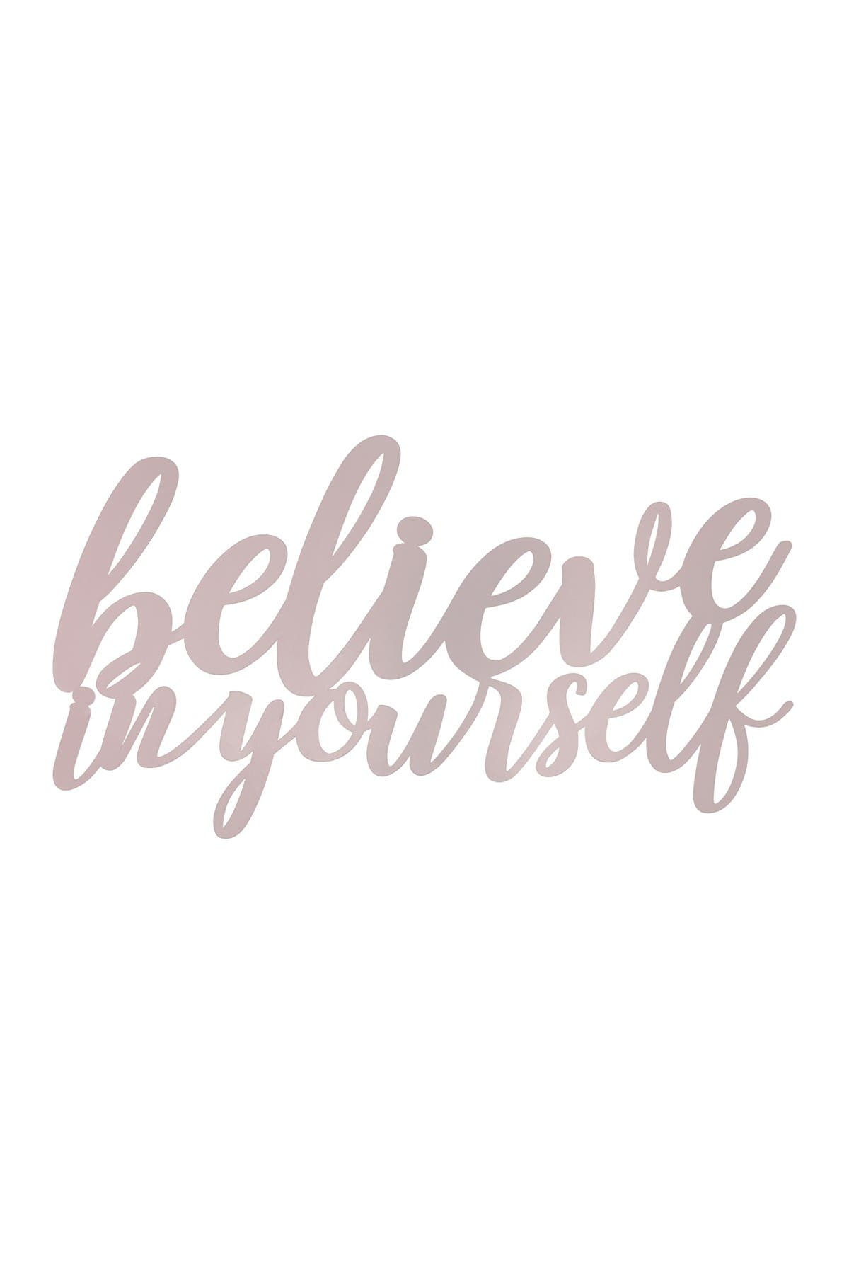 Image of Stratton Home Believe in Yourself Metal Wall Art