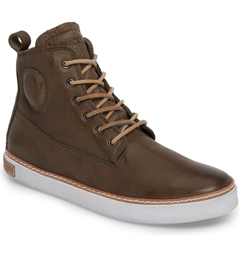 BLACKSTONE 'AM02' Sneaker, Main, color, OLIVE LEATHER