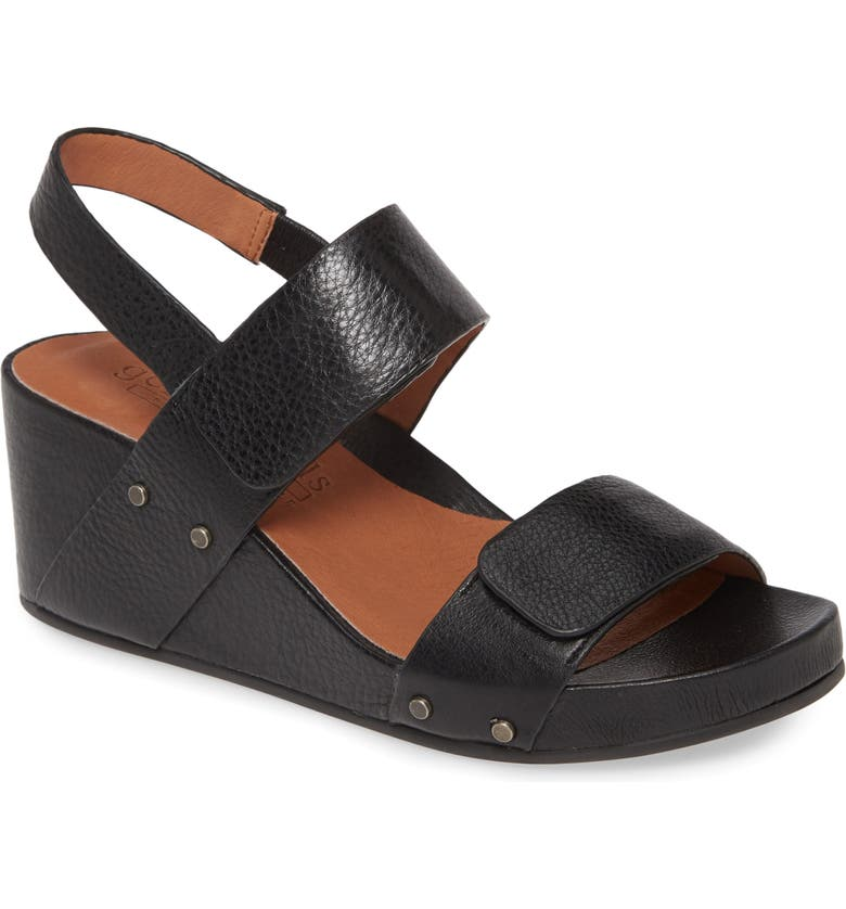 GENTLE SOULS BY KENNETH COLE Gentle Souls Signature Gianna Slingback Sandal, Main, color, BLACK LEATHER