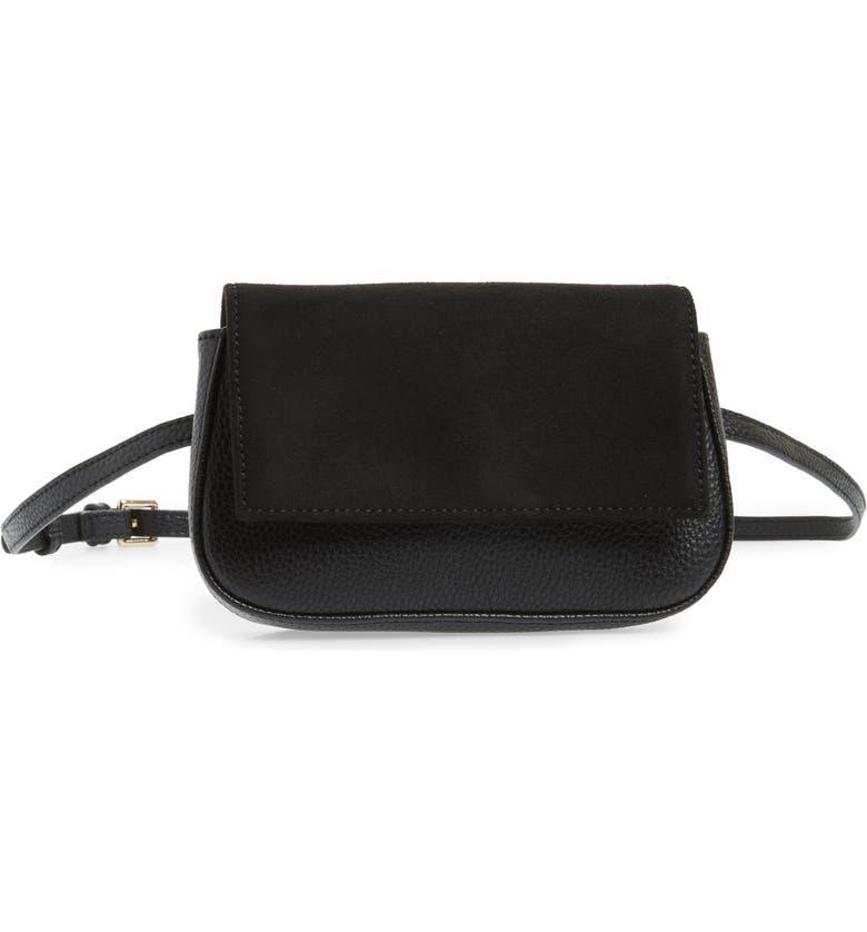 SOLE SOCIETY Kinza Belt Bag, Main, color, 001