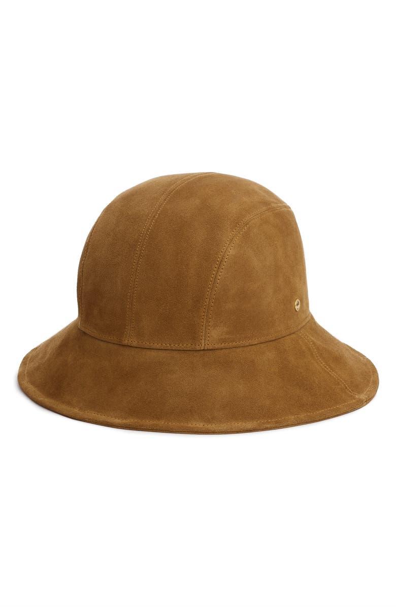 RAG & BONE Nando Suede Bucket Hat, Main, color, GOLDEN BROWN SUEDE