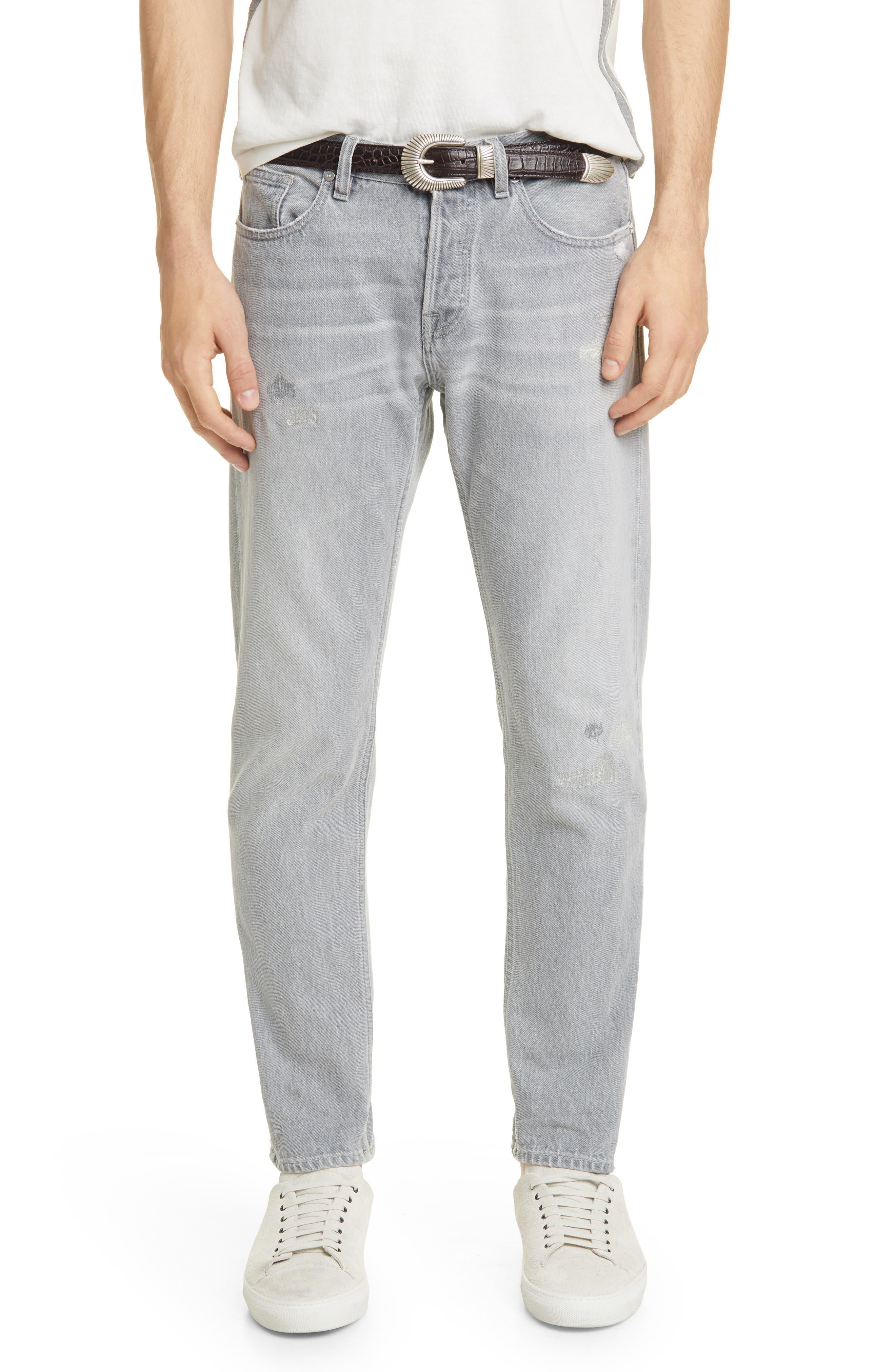 Image of ELEVENTY Distressed Slim Fit Jeans