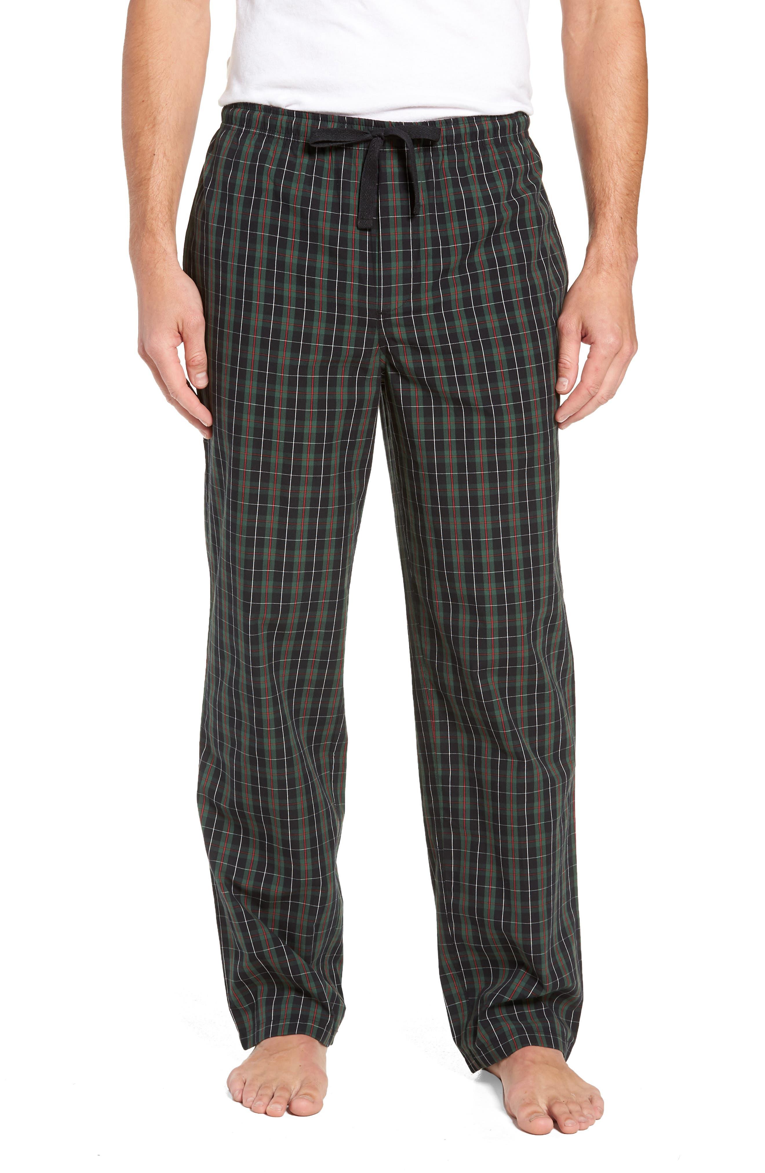 Nordstrom Shop Poplin Pajama Pants, Green