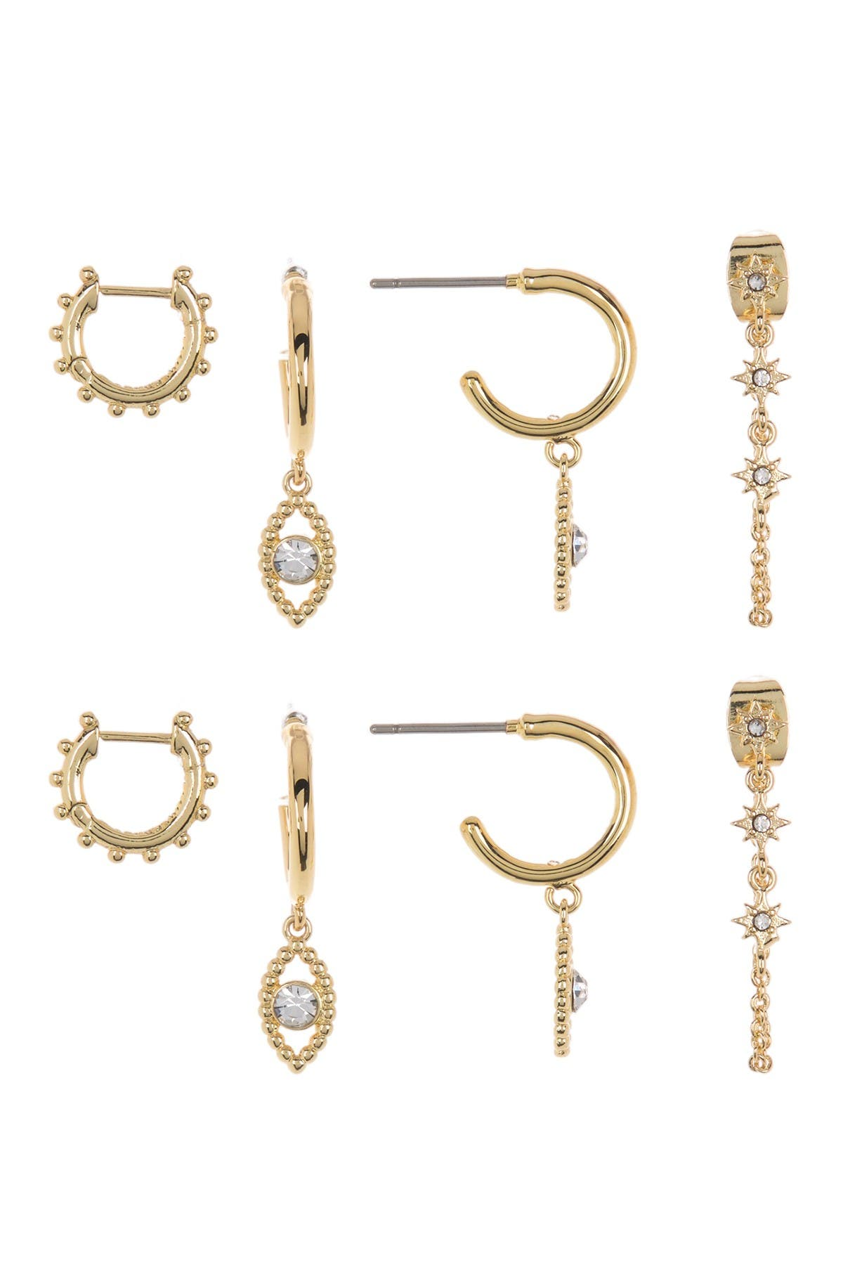 Image of BAUBLEBAR Delicate Trio Stud Earring Gift Set