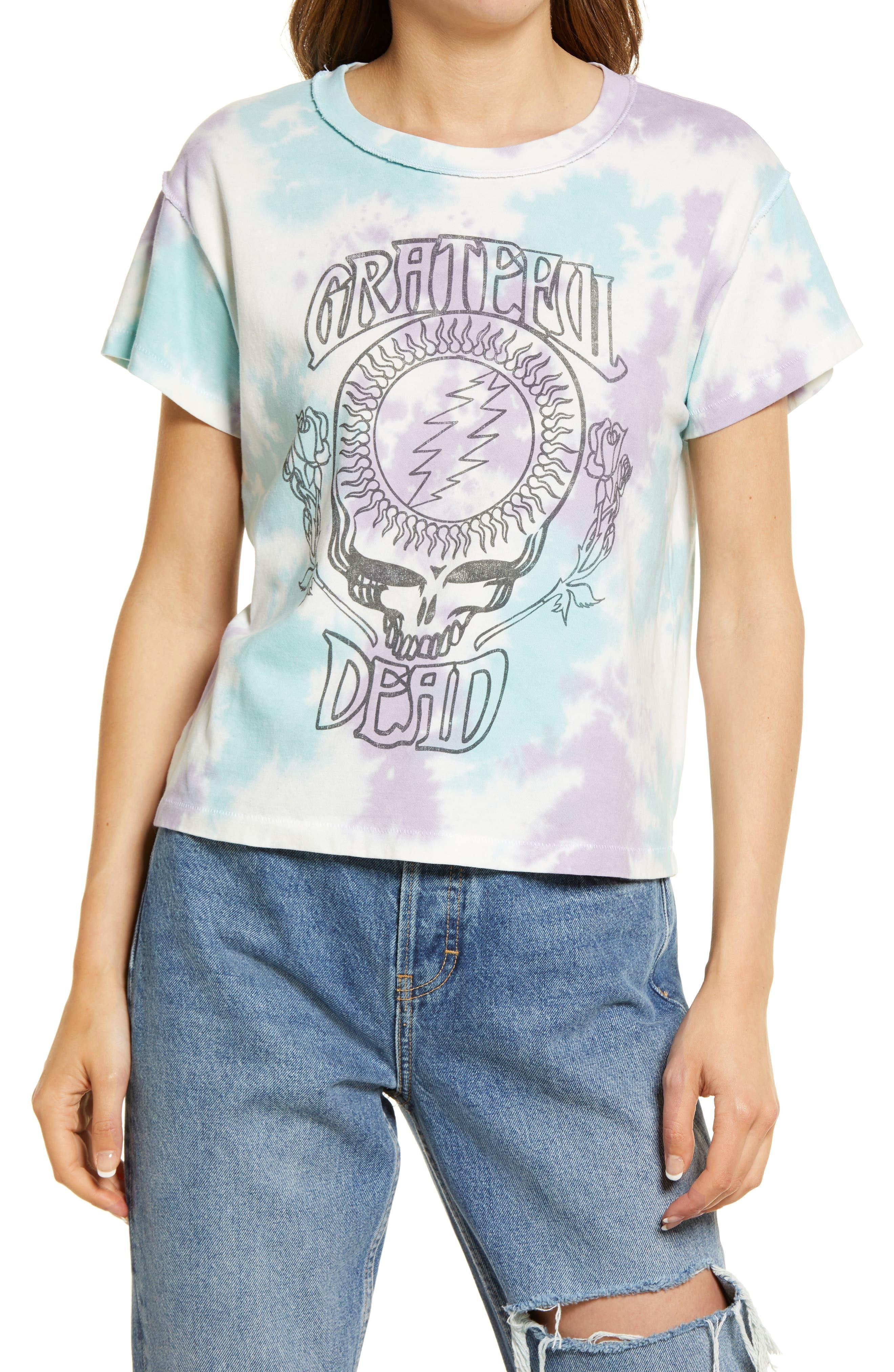 Women's Grateful Dead Sky Tie Dye Reverse Graphic Tee
