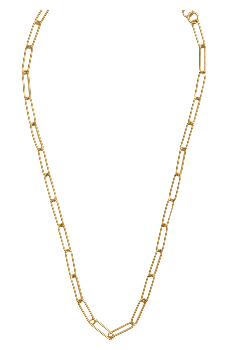 MADEWELL Paperclip Chain Necklace, Main, color, VINTAGE GOLD