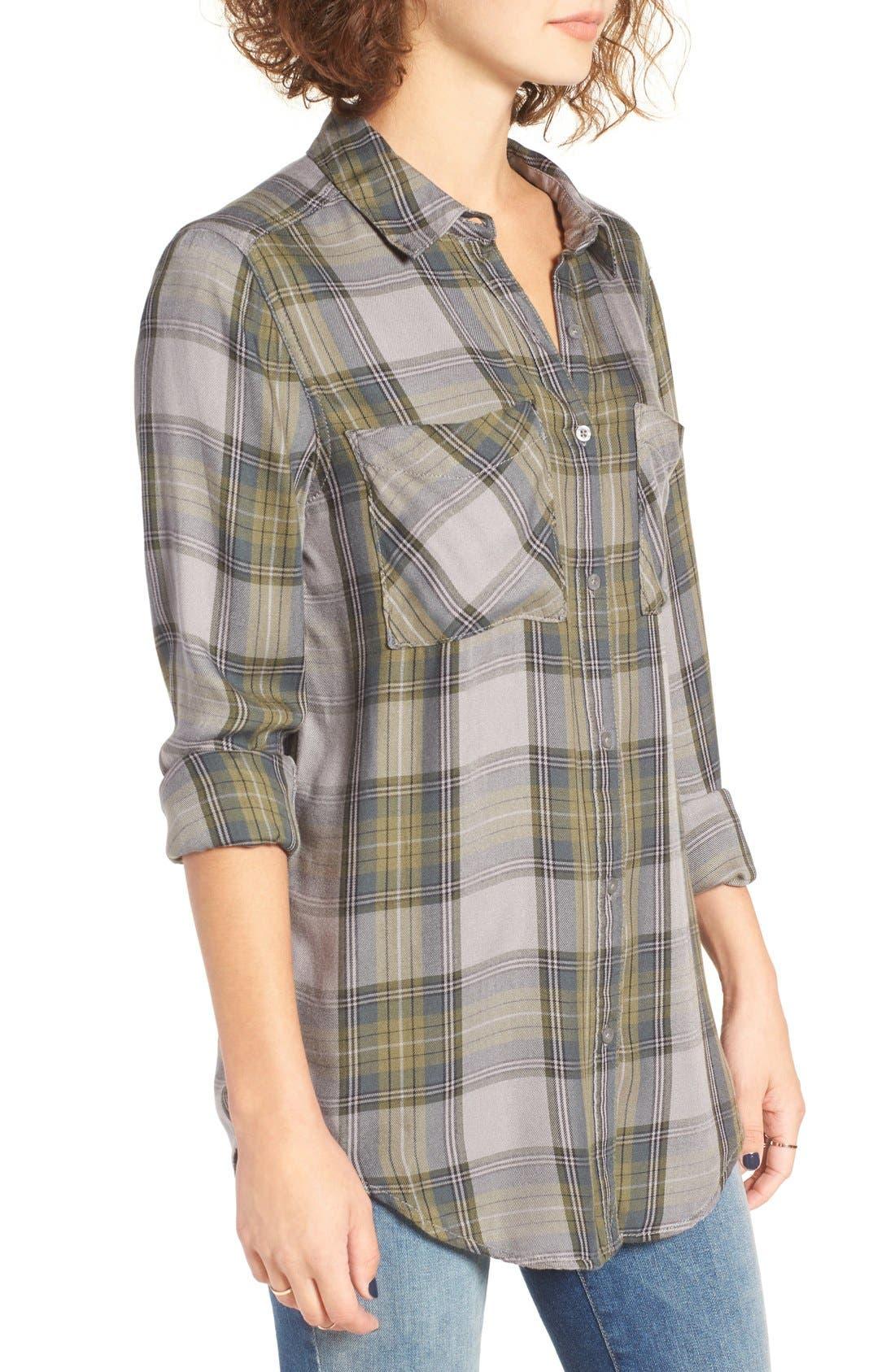 ,                             Plaid Tunic Shirt,                             Alternate thumbnail 14, color,                             030