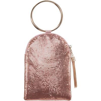 Nina Metallic Mesh Handbag - Pink