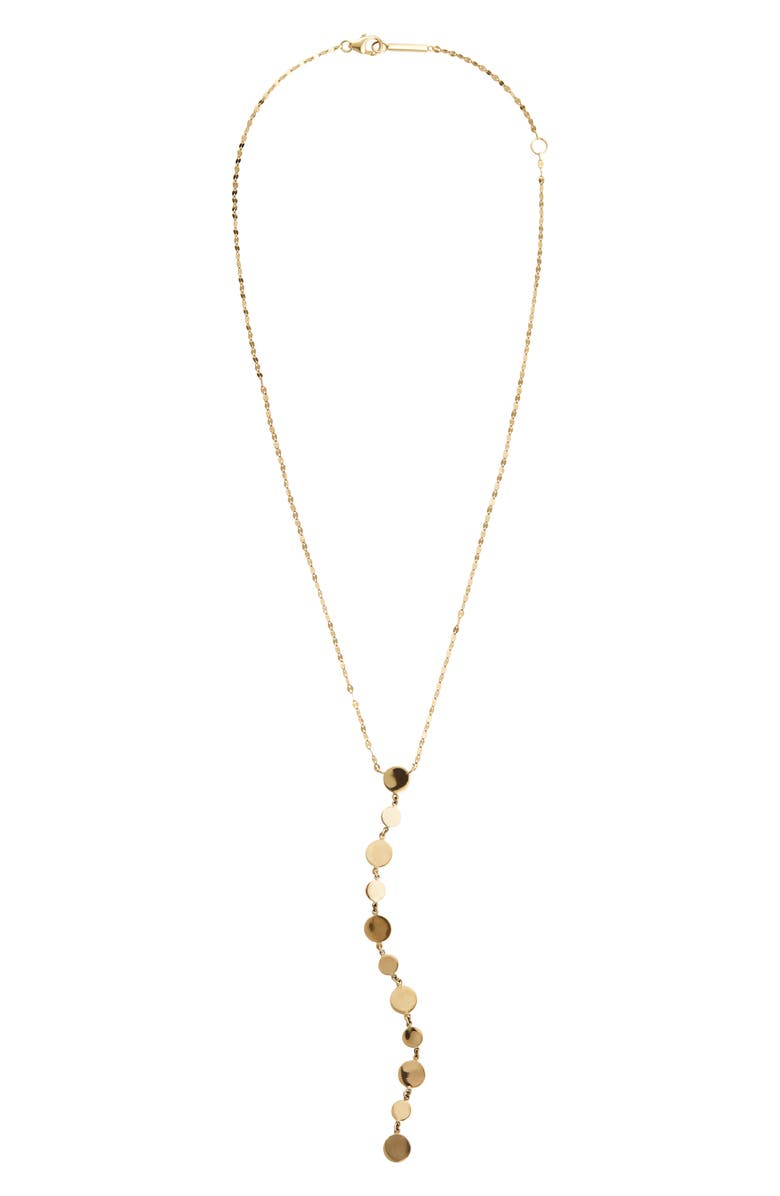 LANA JEWELRY Legacy Lariat Disc Necklace, Main, color, 710