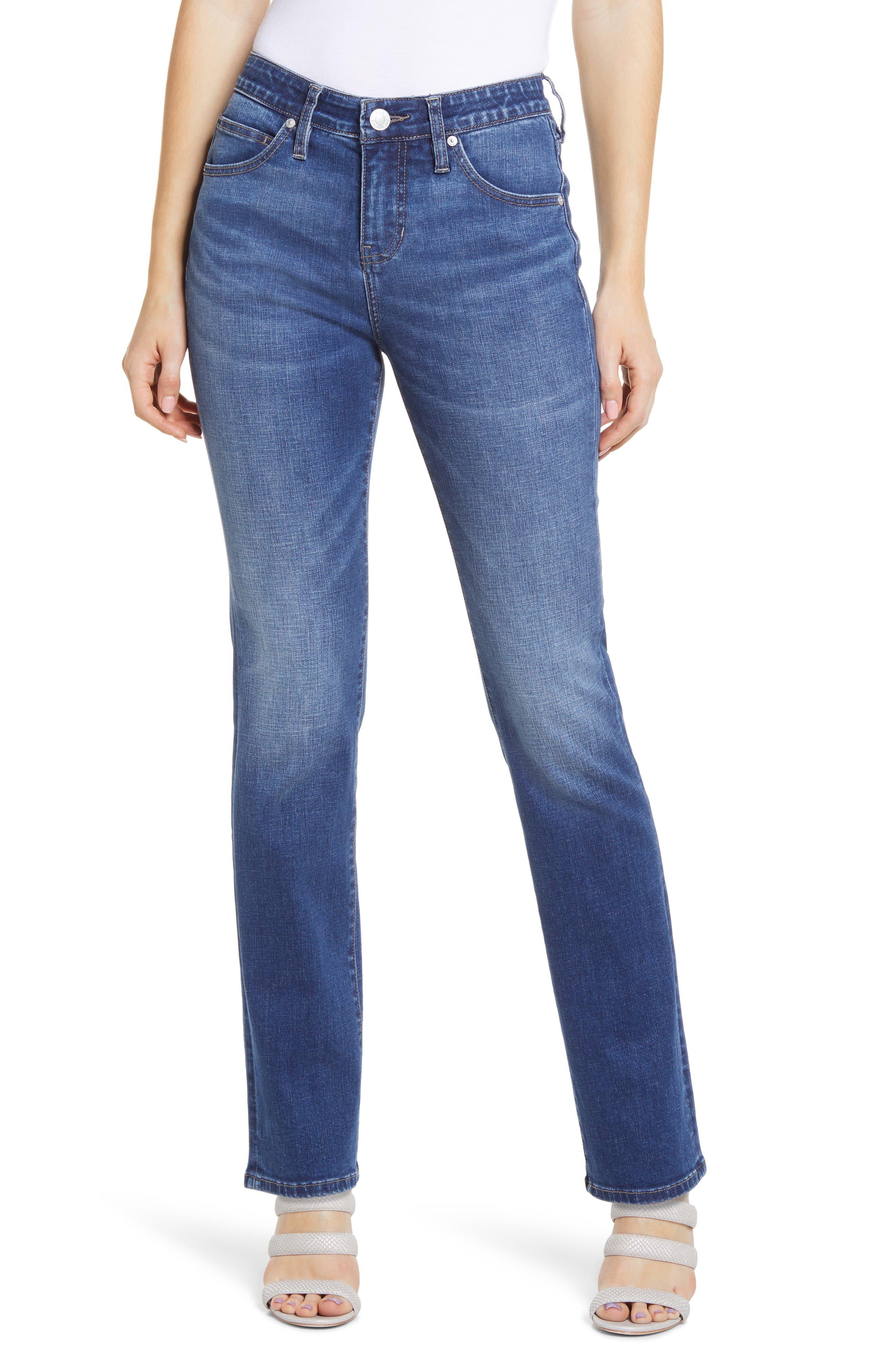 Ruby High Waist Straight Leg Jeans