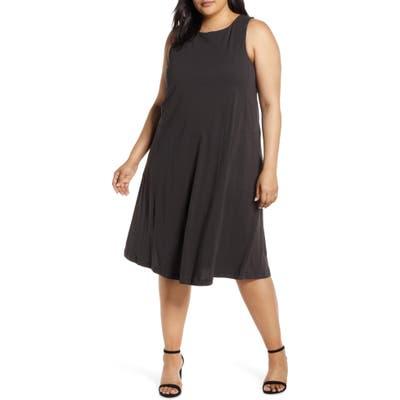 Plus Size Bobeau Lillian Tie Back Tank Dress, Black