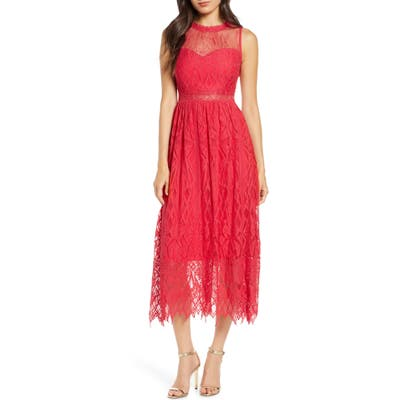 Foxiedox Sleeveless Lace Midi Dress