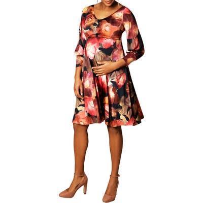 Tiffany Rose Pixie A-Line Maternity Dress, (fits like 2-4 US) - Blue