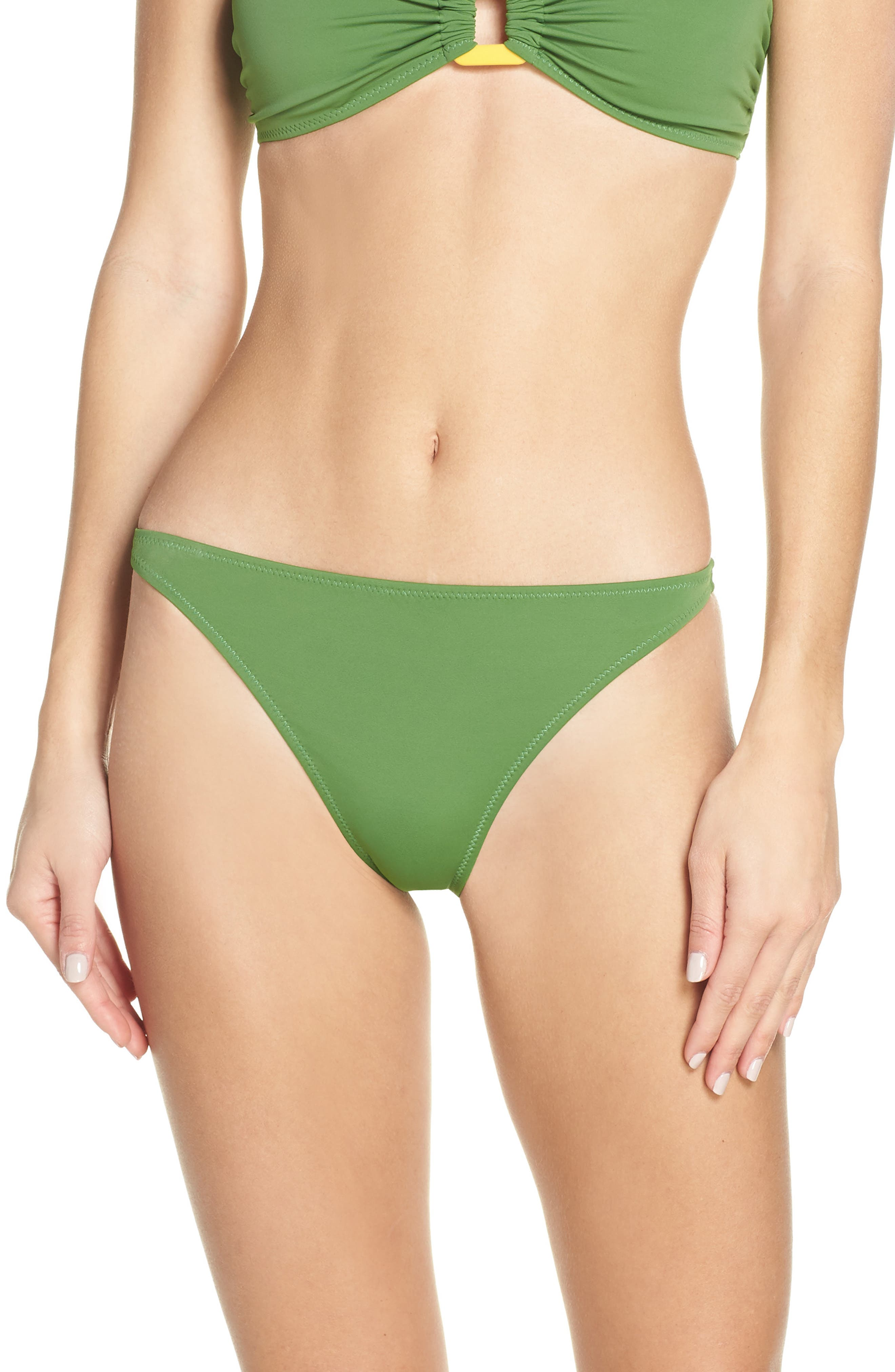 Solid & Striped The Tati Grass High Cut Bikini Bottoms, Green