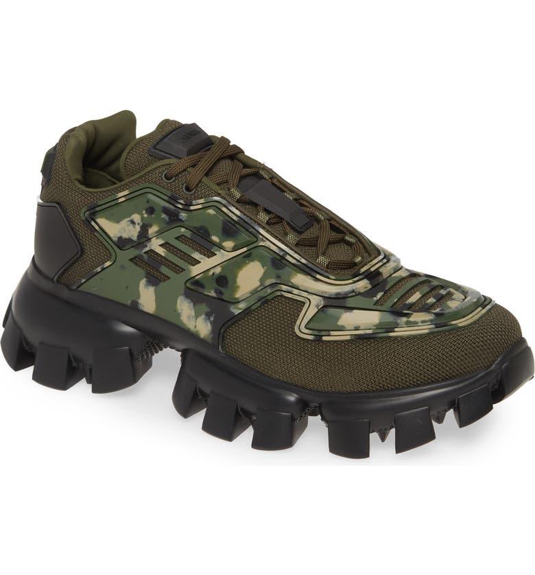 PRADA Lug Sole Sneaker, Main, color, MILITARE