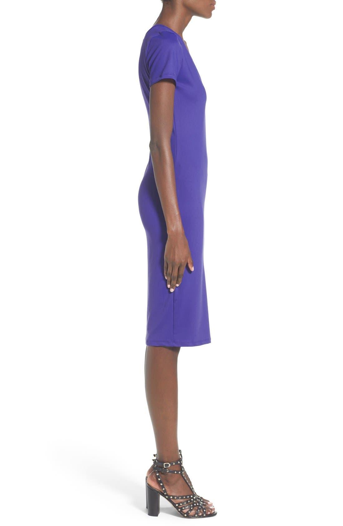 ,                             V-Neck Body-Con Dress,                             Alternate thumbnail 6, color,                             302