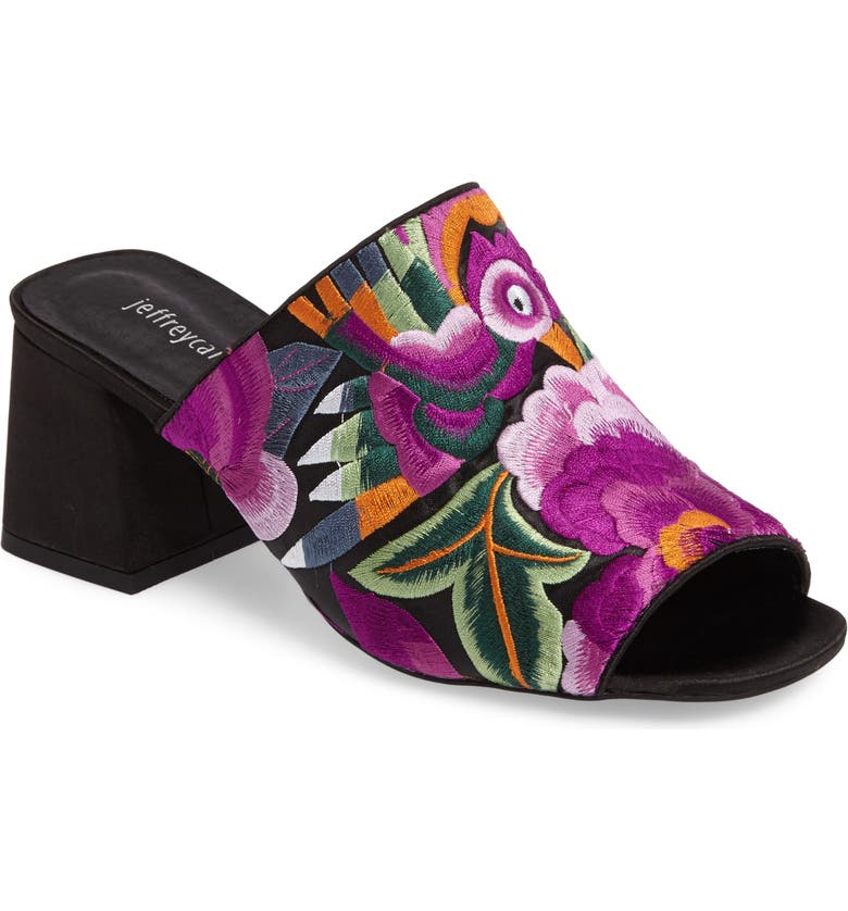 JEFFREY CAMPBELL Perpetua Embroidered Open-Toe Mule, Main, color, 503