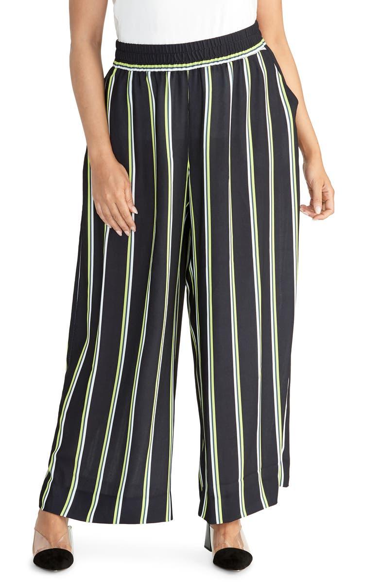 RACHEL RACHEL ROY Goldie Wide Leg Pants, Main, color, BLUE COMBO