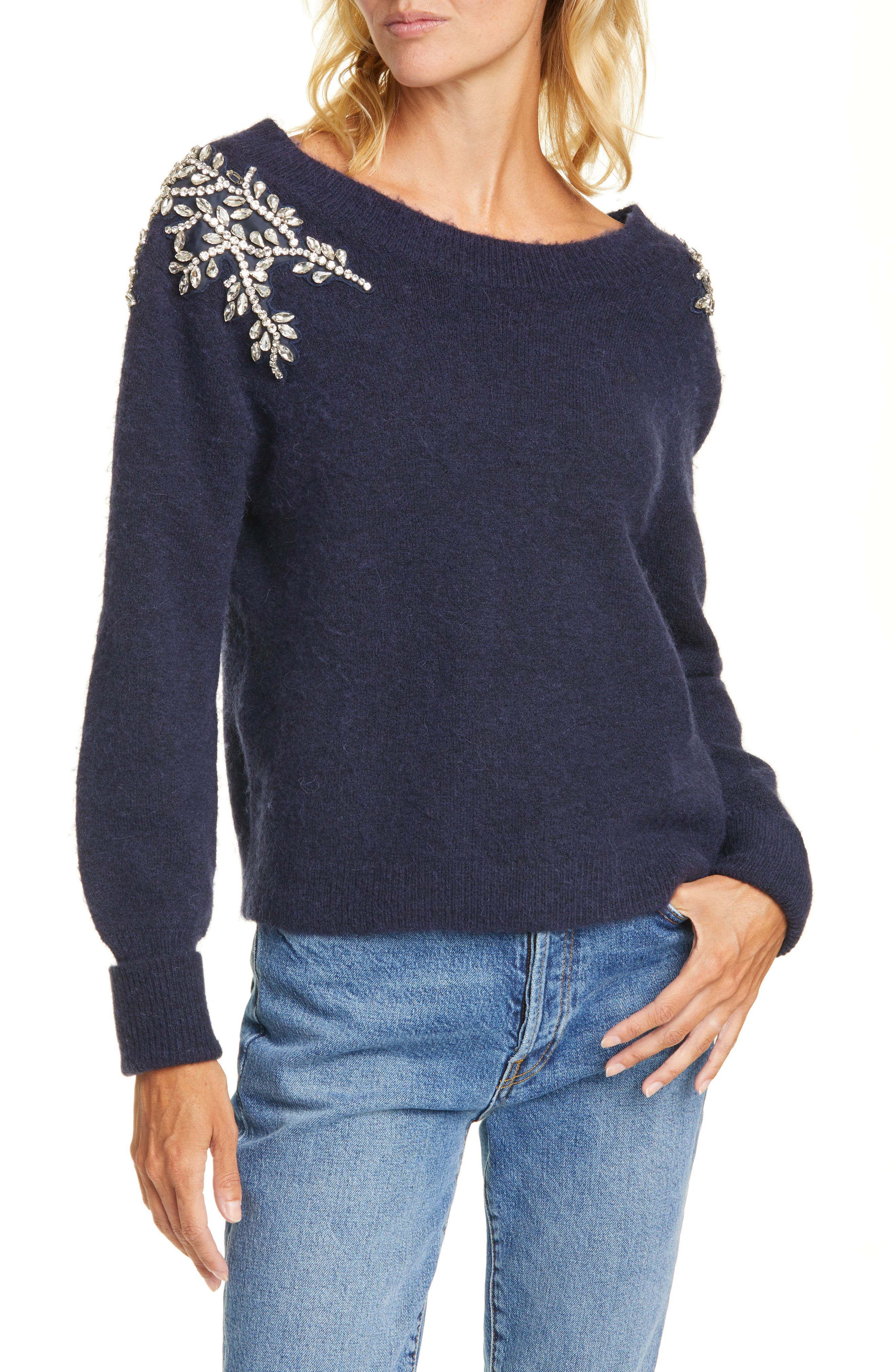 Veronica Beard Sweaters Valerie Embellished Sweater
