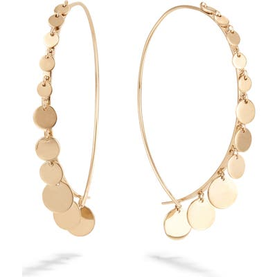 Lana Jewelry Dangling Disc Upside Down Earrings