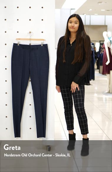 Nordstrom Flat Front Solid Stretch Wool Dress Pants, sales video thumbnail
