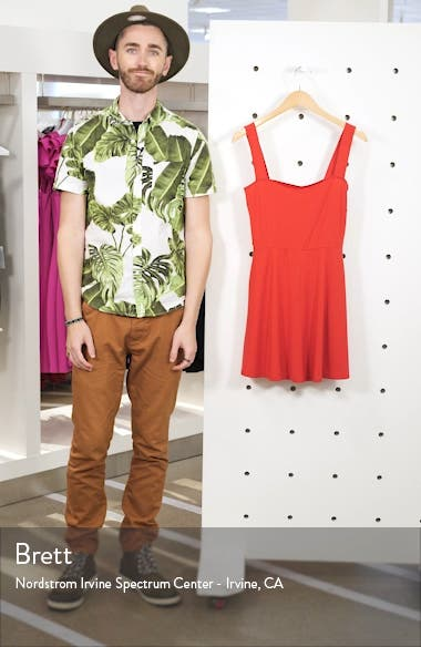Anicka Square Neck Skater Dress, sales video thumbnail