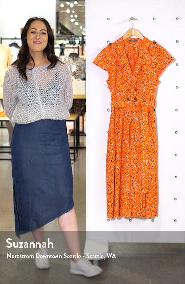 Floral Print Midi Shirtdress, sales video thumbnail