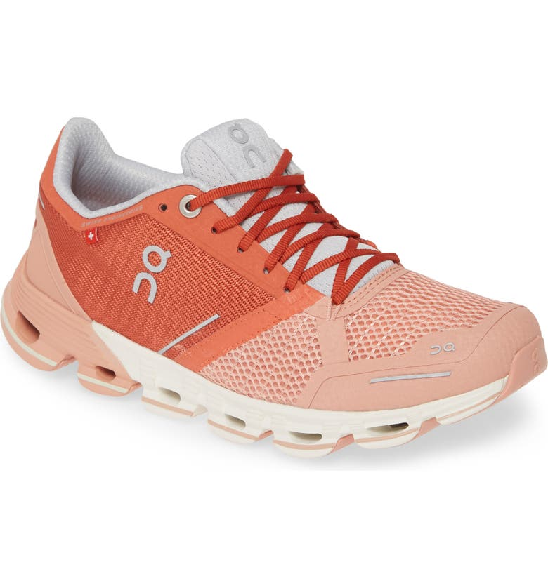 ON Cloudflyer Running Shoe, Main, color, GINGER/ WHITE