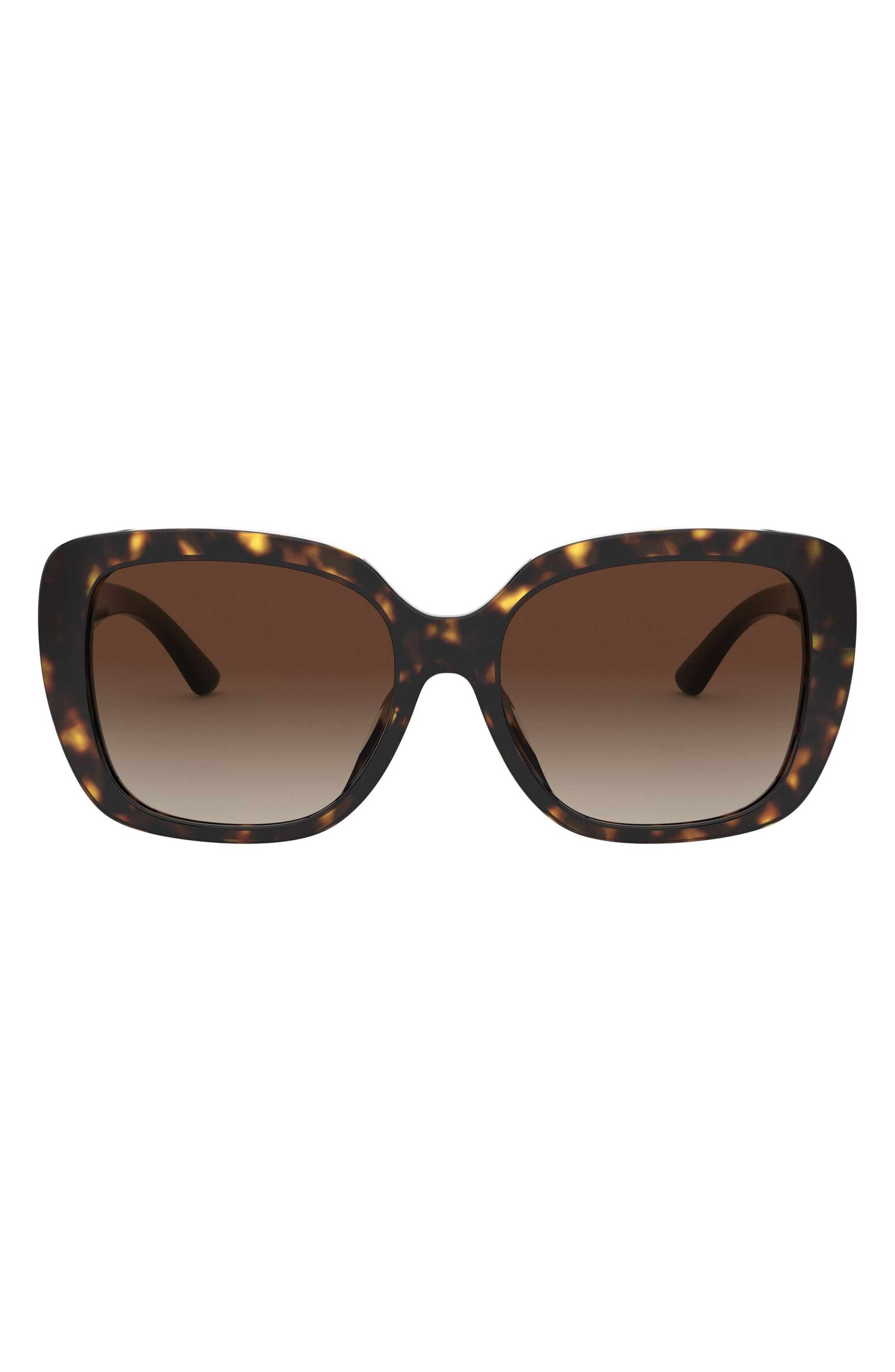A Beautiful Life 56mm Gradient Square Sunglasses In Dark Tort/ Brown Gradient