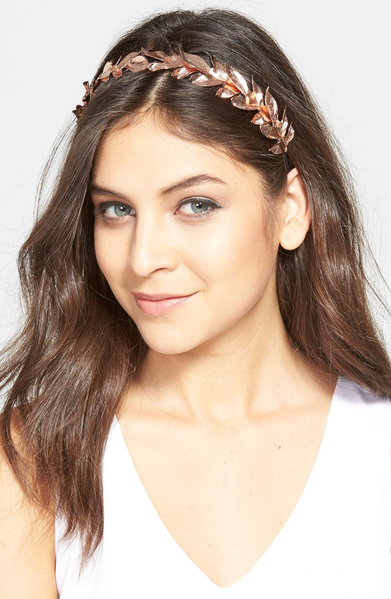 EUGENIA KIM 'Lys' Leaf Headband, Main, color, 712